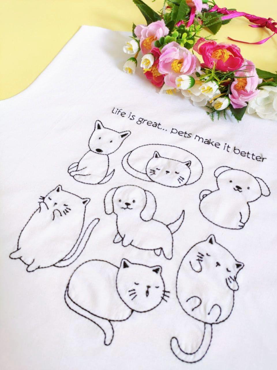 Camiseta Pets Branca