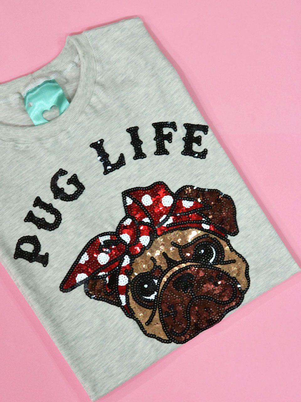Camiseta Pug Life Mescla