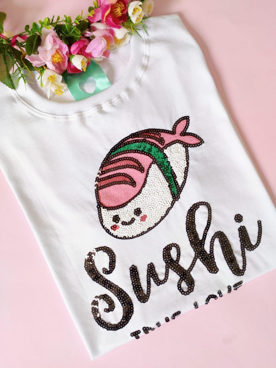 Camiseta Sushi Branca
