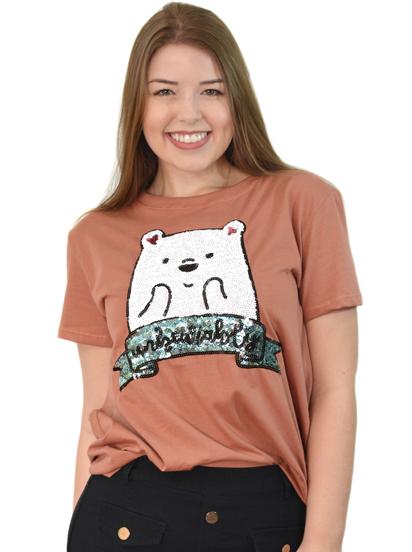 Camiseta Unbearably Terracota