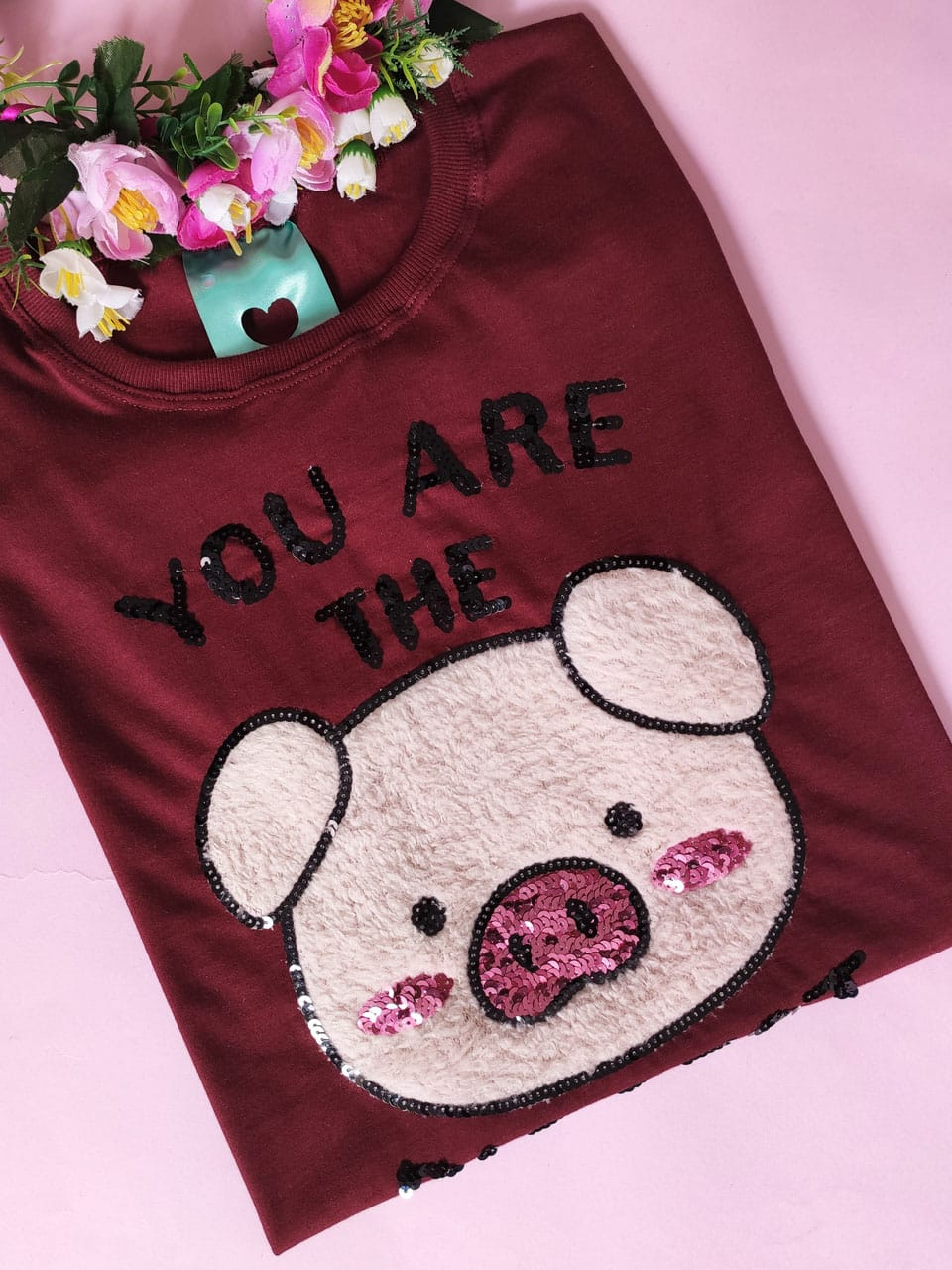 Camiseta You Are The Piggest Vinho
