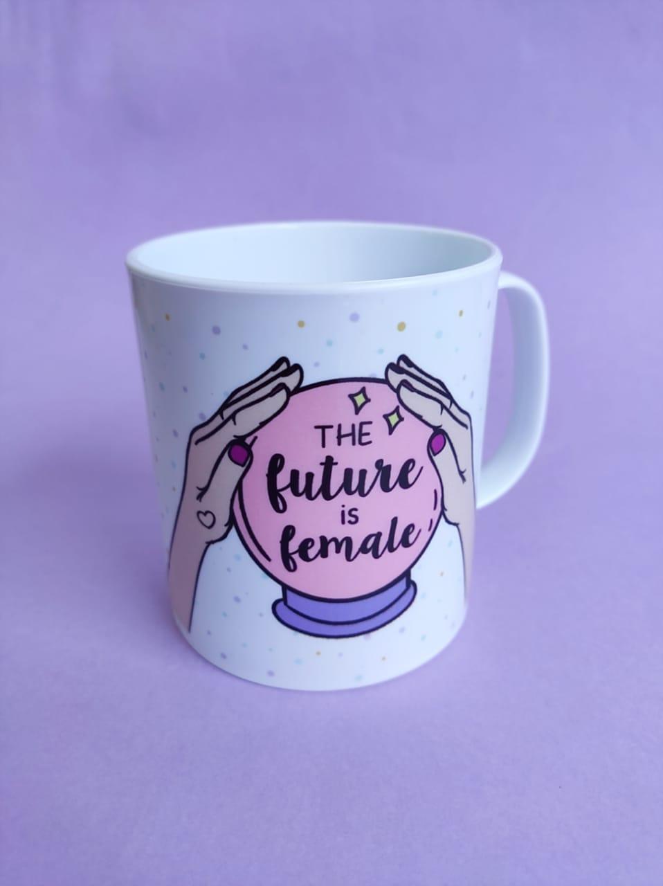 Caneca  em Polímero The Future is Female Personalizada com Nome
