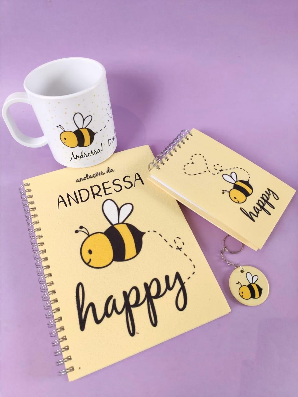 Kit Bee Happy Personalizado com Nome