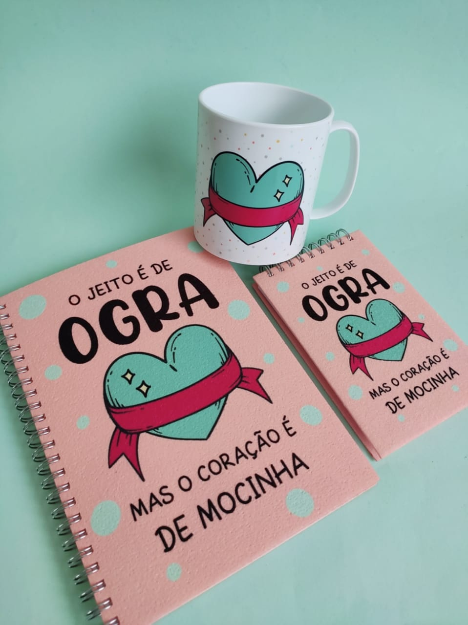 Kit Jeito de Ogra - Coração de Mocinha  (3 peças)