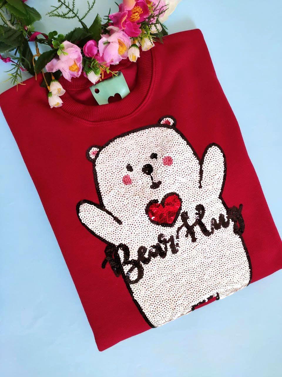 Moletom Bear Hug Vinho