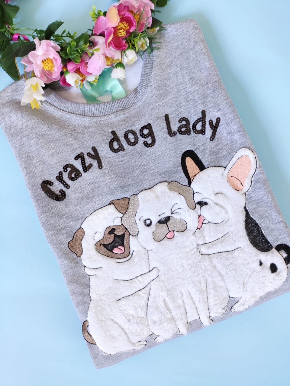 Moletom Crazy Dog Lady Mescla