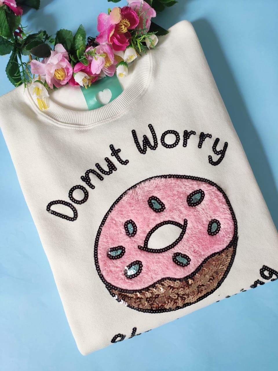 Moletom Donut Worry Champagne