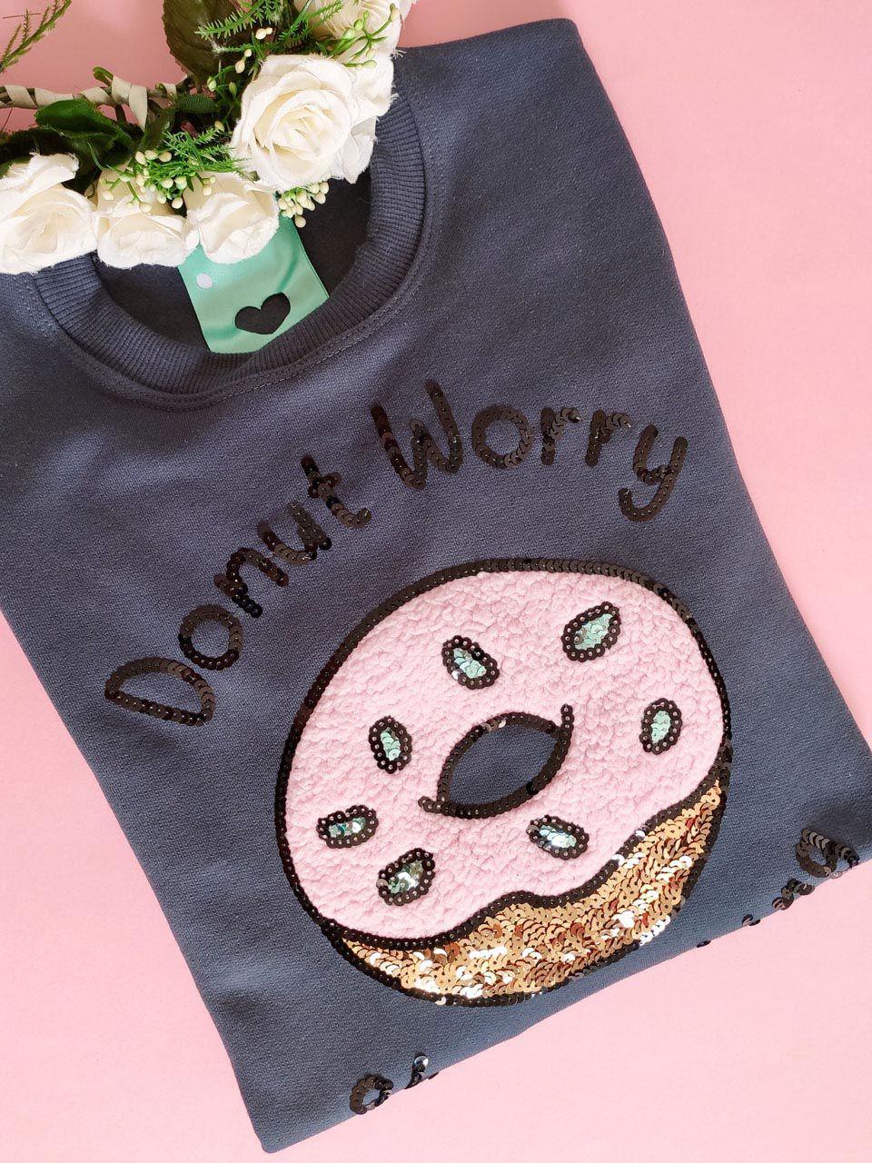 Moletom Donut Worry Chumbo