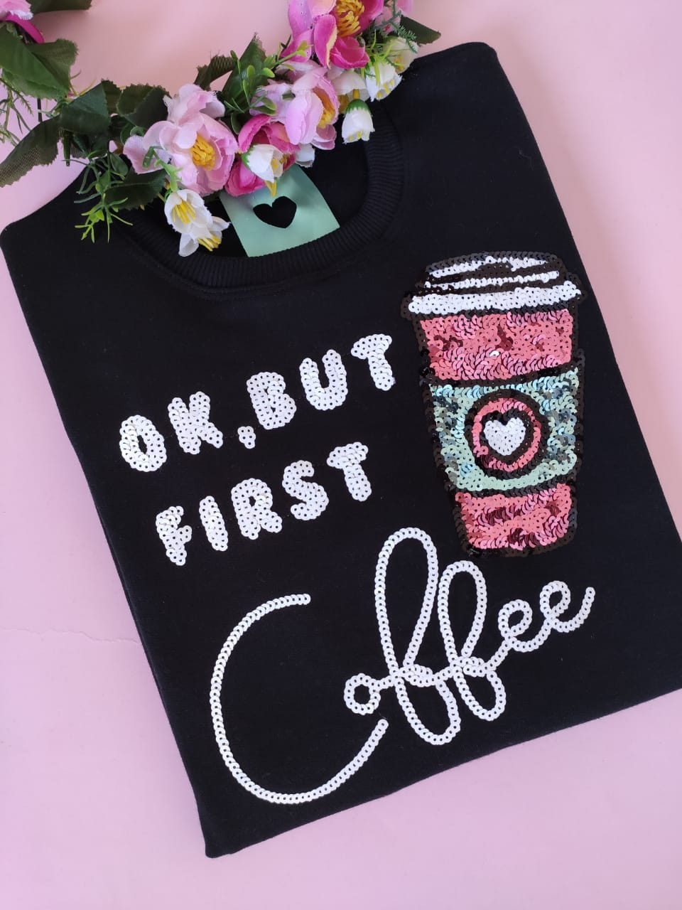 Moletom First Coffee Preto