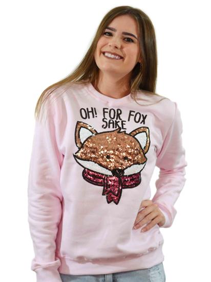 Moletom Fox Rosa