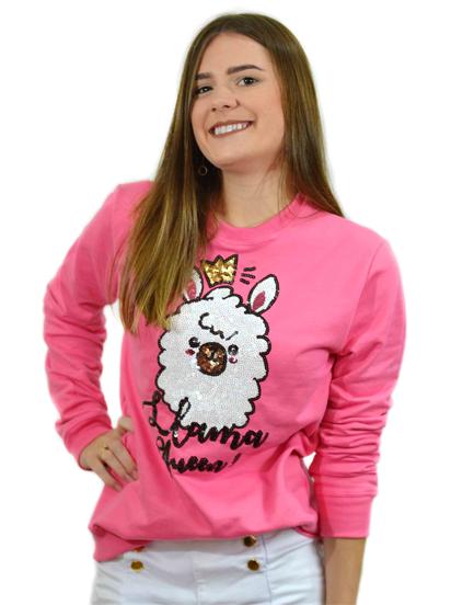 Moletom Llama Queen Pink