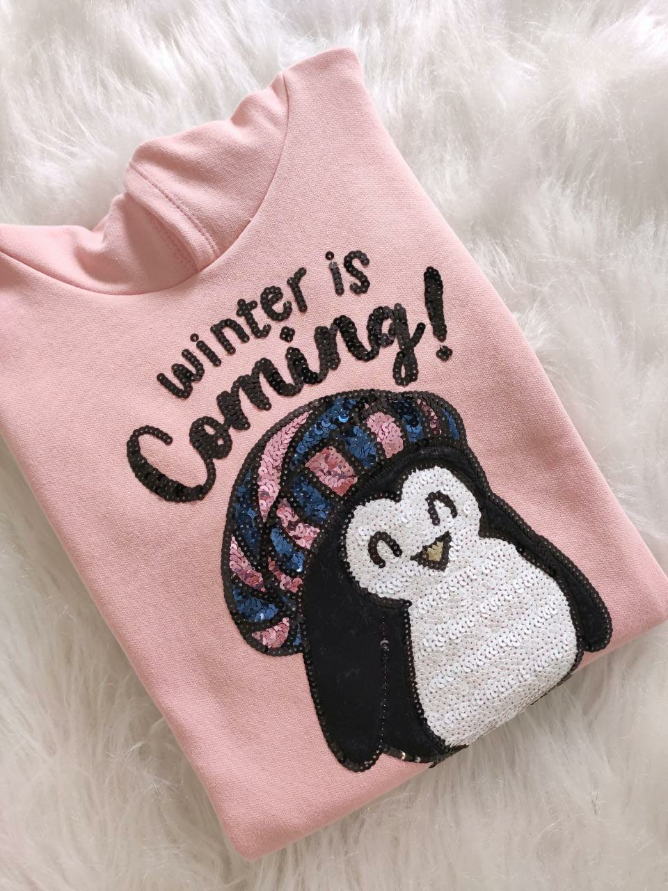 Moletom Winter is Comming com Capuz