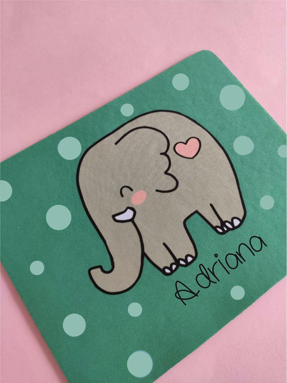 Mouse Pad Elefante Personalizado com Nome