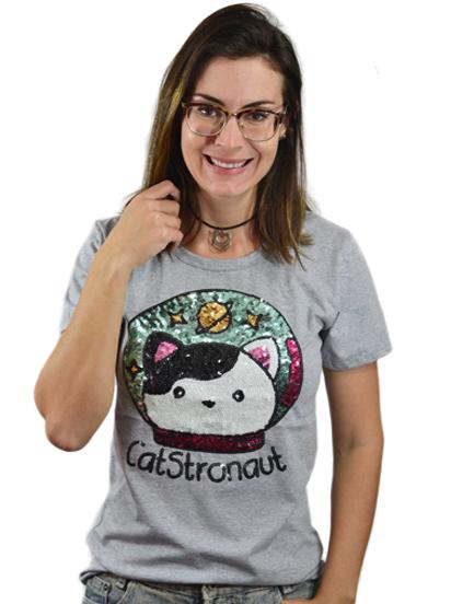 T-shirt Catstronaut Mescla