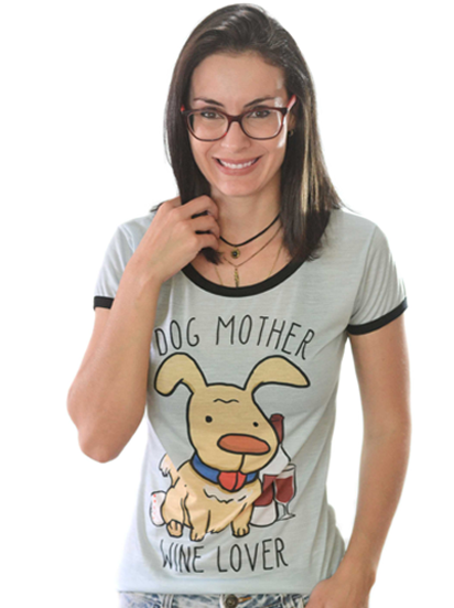 T-shirt Dog Mother Sublimada