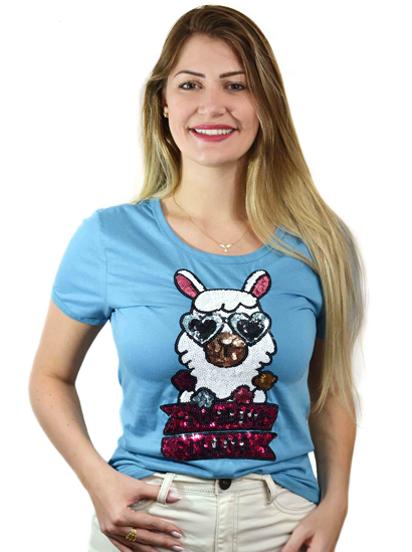 T-shirt Drama Llama Azul