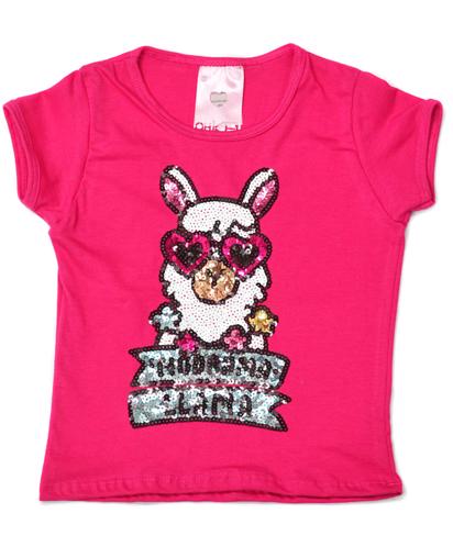 T-Shirt Drama Llama Pink Kids