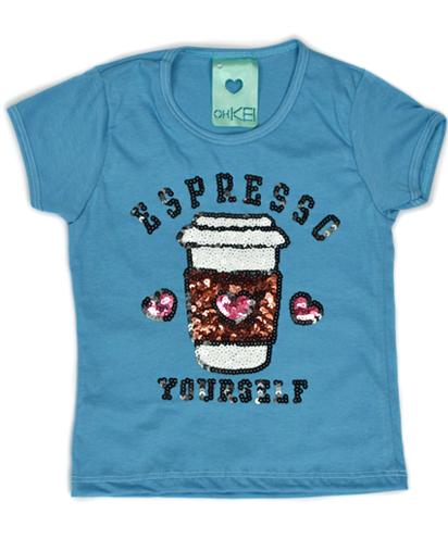 T-Shirt Espresso Yourself Azul Kids