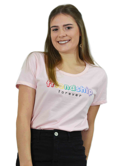 T-Shirt Friendship Rosa