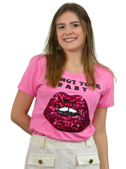 T-shirt I´m Not Your Baby Pink