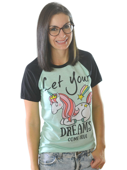 T-shirt Let Your Dreams Como True Sublimada