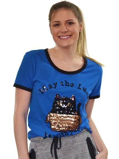 T-shirt Luck Azul