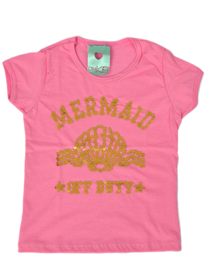 T-Shirt Mermaid Rosa Kids