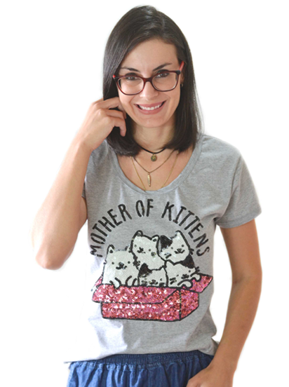 T-shirt Mother Of Kittens Mescla