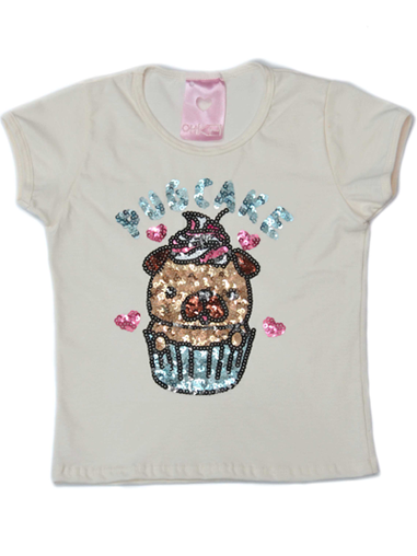 T-Shirt Pug Cake Off White Kids