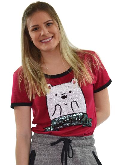 T-shirt Unbearably Vinho