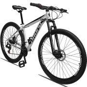 Bicicleta Aro 29 Dropp Aluminum 21v Freio a disco Mecânico Quadro 21 Branco/Preto