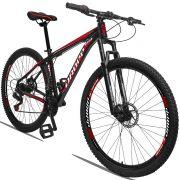 Bicicleta Aro 29 Dropp Aluminum 21v Freio a disco Mecânico Quadro 21 Preto/Vermelho
