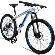 Bicicleta Aro 29 Dropp Aluminum 27v Câmbio Traseiro Altus Freio Hidráulico Quadro 19 Branco/Azul