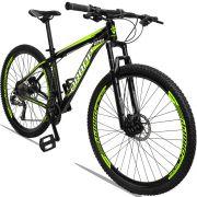 Bicicleta Aro 29 Dropp Aluminum 27v Câmbio Traseiro Altus Freio Hidráulico Quadro 21 Preto/Amarelo