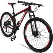 Bicicleta Aro 29 Dropp Aluminum 27v Câmbio Traseiro Altus Freio Hidráulico Quadro 21 Preto/Vermelho