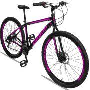 Bicicleta Aro 29 Dropp Sport 21v Garfo Rígido Quadro 19 Preto/Rosa