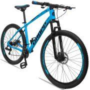 Bicicleta Aro 29 Dropp TX 21v Câmbios Shimano Freio a Disco Mecânico Quadro 19 Azul/Preto