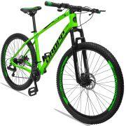 Bicicleta Aro 29 Dropp TX 21v Câmbios Shimano Freio a Disco Mecânico Quadro 19 Verde/Preto