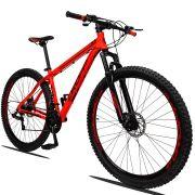 Bicicleta Aro 29 Dropp Z1 21v Câmbios Shimano Freio a Disco Hidráulico Quadro 17 Vermelho