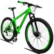 Bicicleta Aro 29 Dropp Z1 21v Câmbios Shimano Freio a Disco Hidráulico Quadro 19 Verde/Preto