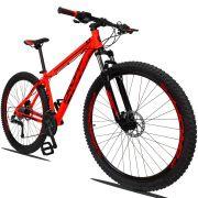 Bicicleta Aro 29 Dropp Z1 27v Câmbio Traseiro Acera Freio Hidráulico Suspensão com Trava Quadro 19 Vermelho