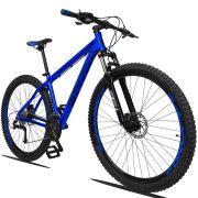 Bicicleta Aro 29 Dropp Z1 27v Câmbio Traseiro Acera Freio Hidráulico Suspensão com Trava Quadro 21 Azul
