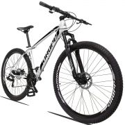 Bicicleta Aro 29 Dropp Z3 21v Câmbios Shimano Freio a Disco Mecânico Quadro 21 Branco/Preto