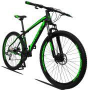 Bicicleta Aro 29 Dropp Z3 27v Câmbio Traseiro Acera Freio Hidráulico Suspensão com Trava Quadro 17 Preto/Verde