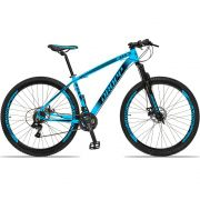 Bicicleta Aro 29 Dropp Z4x 21v Câmbios Shimano Freio a Disco Mecânico Quadro 17  Azul/Preto