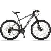 Bicicleta Aro 29 Dropp Z4x 21v Câmbios Shimano Freio a Disco Mecânico Quadro 17 Preto/Branco