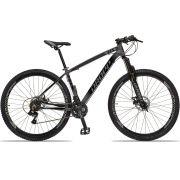 Bicicleta Aro 29 Dropp Z4x 21v Câmbios Shimano Freio a Disco Mecânico Quadro 17  Preto/Cinza