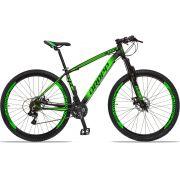 Bicicleta Aro 29 Dropp Z4x 21v Câmbios Shimano Freio a Disco Mecânico Quadro 17 Preto/Verde
