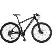 Bicicleta Aro 29 Dropp Z4x 2x9 Shimano Freio a Disco Hidráulico Suspensão com Trava no Guidão Quadro 17  Preto/Cinza