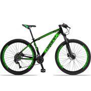 Bicicleta Aro 29 Dropp Z4x 2x9 Shimano Freio a Disco Hidráulico Suspensão com Trava no Guidão Quadro 17 Preto/Verde